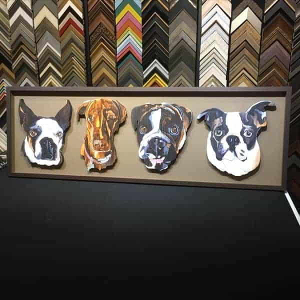 Pet lover Wood Dog Custom Frame