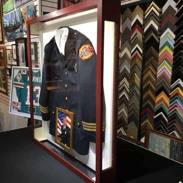 Custom Framed Fireman Jacket From North Lauderdale FD
