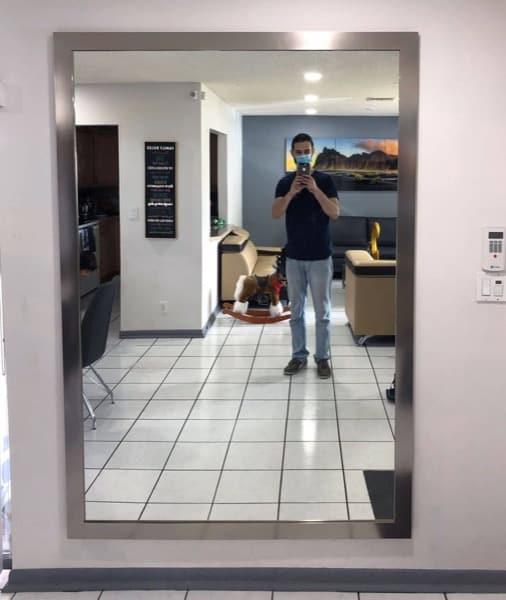 large custom hall mirror