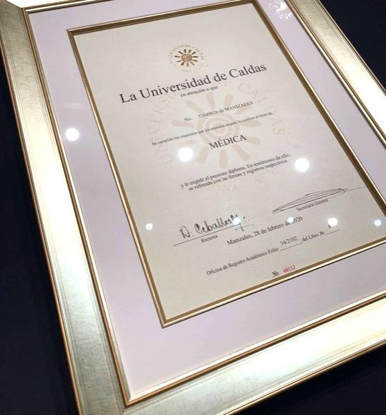 custom framed medical diploma for your home office decor