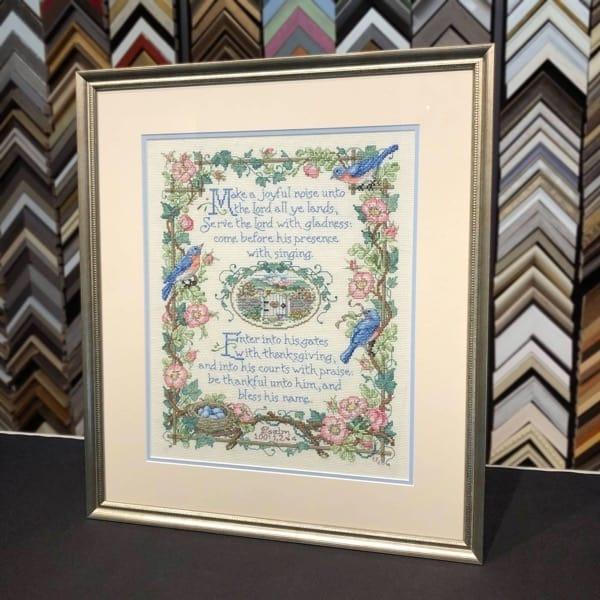 Needlework Prayer - Framed