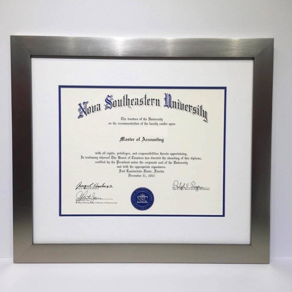Silver Diploma southeastern university Frame
