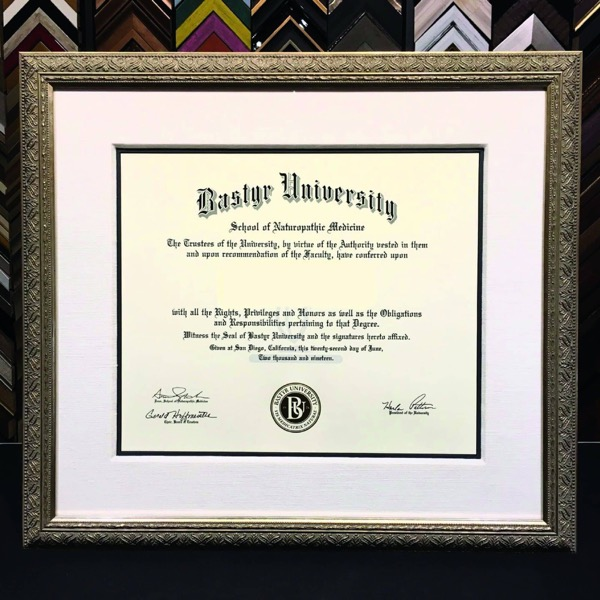 custom made diploma frame made in Fort Lauderdale