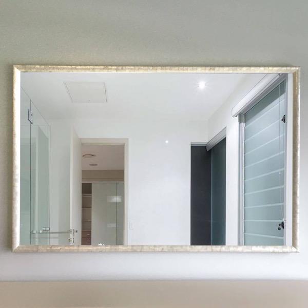 Custom Mirror in pearl shell frame
