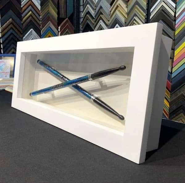 gift for music lover - custom framed drumsticks