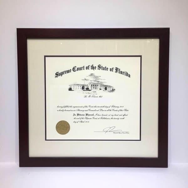 quality wood diploma frame