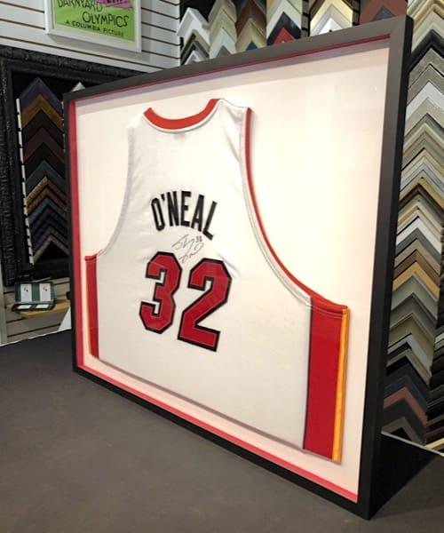 custom framed basketball jersey at best price